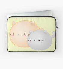 Kawaii Tut and Rogue Cats - Cute Kitty Friends Laptop Sleeve