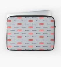 Grey Sup Champion Collage Laptop Sleeve