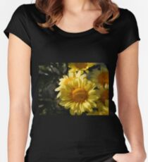 Yellow Mums Women's Fitted Scoop T-Shirt