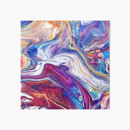 Color Flow Art Board Print