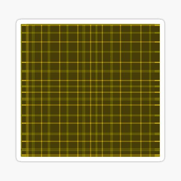gold tartan  2 Sticker
