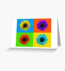 Colorful Sunflower Collage Greeting Card