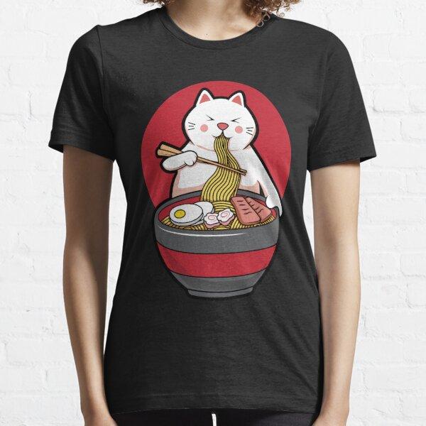 Cute Japanese Ramen Noodles Gift Kawaii Anime Cat T-shirt Essential T-Shirt