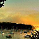 Dawn Paints Mallets Bay, Lake Champlain by Wayne King