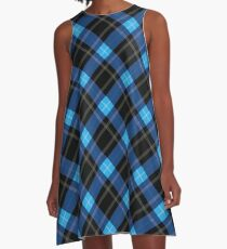Blue Plaid Classic Plaid Uniform School Fashion A-Line Dress