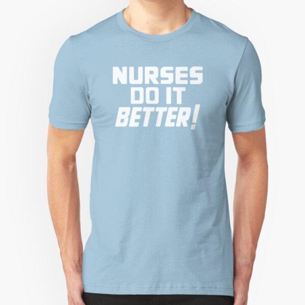 Nurses Love Rock N Roll Too Slim Fit T-Shirt