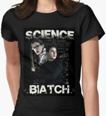 Science Biatch! // AOS // Fitzsimmons Women's Fitted T-Shirt