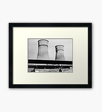 Cooling Towers / Viaduct / Boy Framed Print