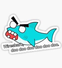 angry zombie wireshark Sticker