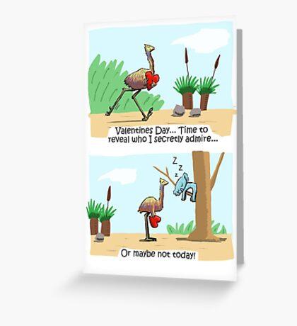 Emu and Koala Valentines Day Card Greeting Card