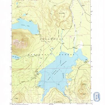 USGS Topo Map Oregon Crane Prairie Reservoir 279494 1963 24000 by wetdryvac