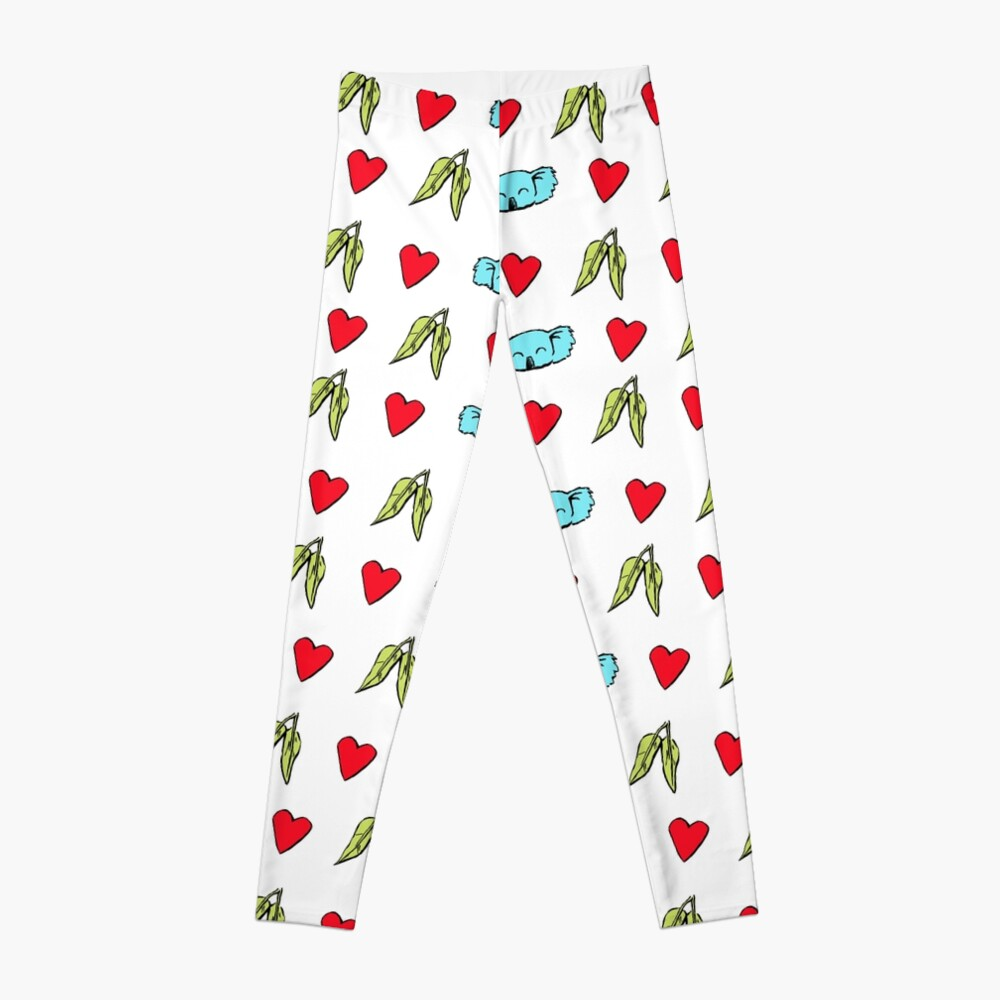 Koala Loves Eucalyptus Leaves Pattern Leggings