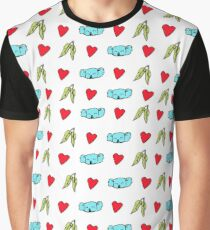 Koala Loves Eucalyptus Leaves Pattern Graphic T-Shirt