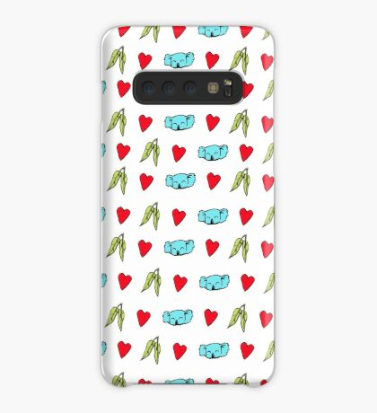 Koala Loves Eucalyptus Leaves Pattern Case/Skin for Samsung Galaxy