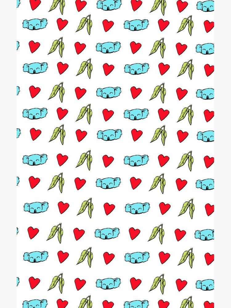 Koala Loves Eucalyptus Leaves Pattern by eddcross