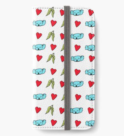 Koala Loves Eucalyptus Leaves Pattern iPhone Wallet