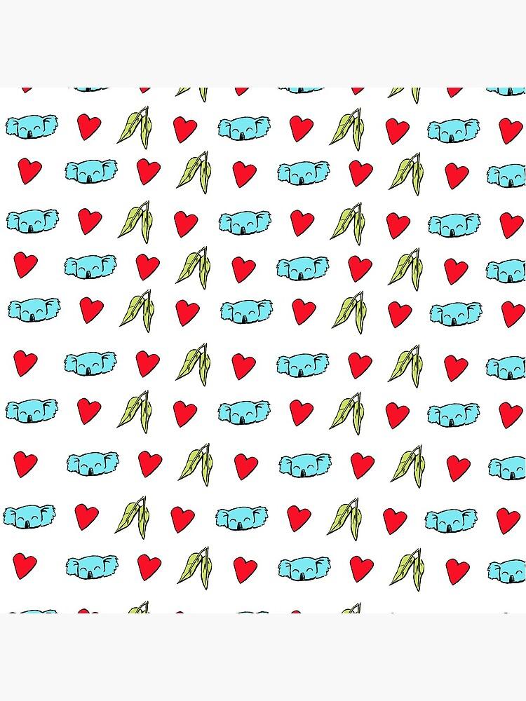 Koala Loves Eucalyptus Leaves Pattern by eddcross