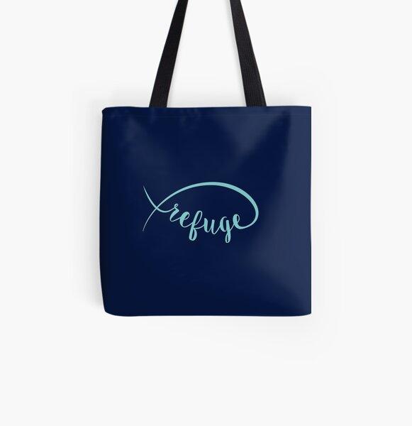 Refuge in Light Blue All Over Print Tote Bag