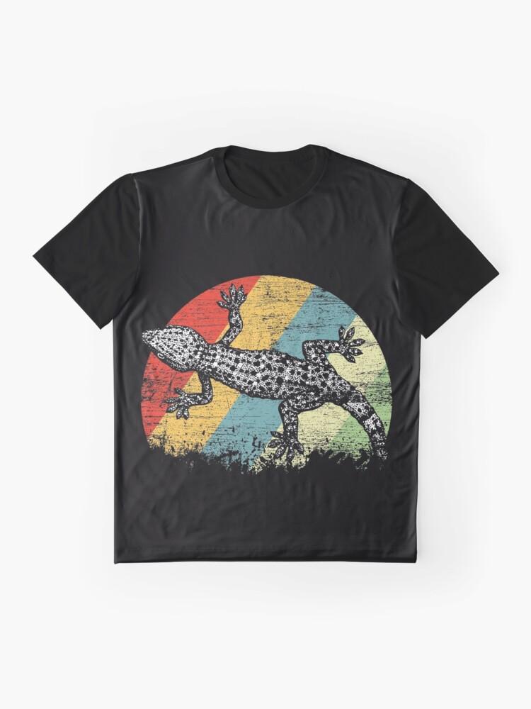 Vista alternativa de Camiseta gráfica Gecko animal
