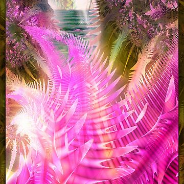 Jane, Colorful tropical island fractal art by Glimmersmith