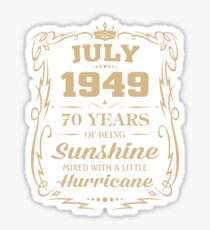 July 1949 Sunshine Mixed With A Little Hurricane Sticker