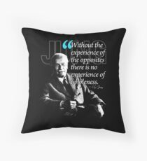 A Quote from Carl Gustav Jung Quote #27 of 50 available Throw Pillow
