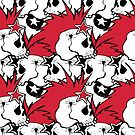 Crazy punk rock abstract background by TrishaMcmillan