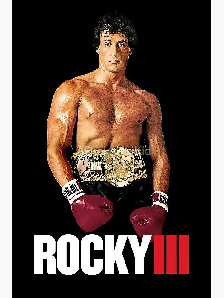 Rocky 3 Poster Greeting Card By Abrokeunikid Redbubble
