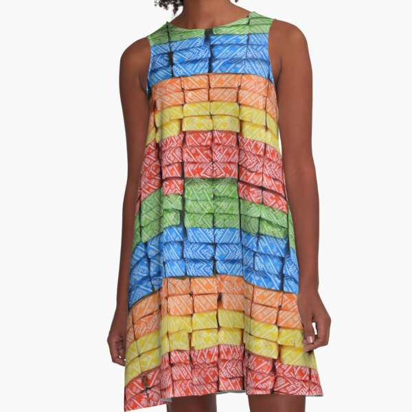 Sugus Swiss chewy candy  A-Line Dress