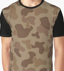 Camuflage Desert Army Pattern Graphic T-Shirt