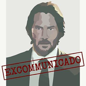 Excommunicado John Wick by misterpillows