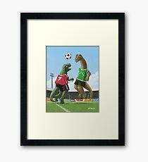 dinosaur football sport game Framed Print