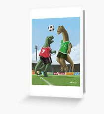 dinosaur football sport game Greeting Card