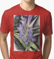 Purple, and Black Visions Tri-blend T-Shirt