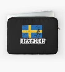 Biathlon Sweden Laptop Sleeve