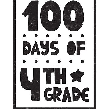 Teachers Students T-Shirt 100 Days Of 4th Grade Tee Gift  by arnaldog