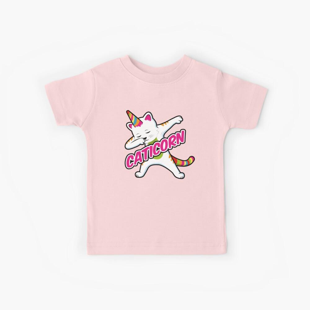 Caticorn - lustiges tupfenes Einhorn Katze Kinder T-Shirt
