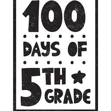 Teachers Students T-Shirt 100 Days Of 5th Grade Tee Gift  by arnaldog