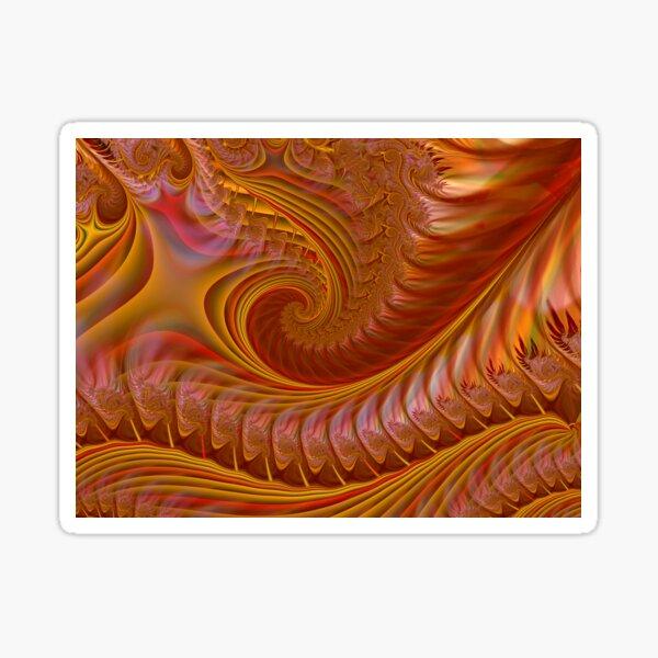 Autumn Waves Sticker