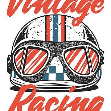 Vintage Racing Helmet by OlegMarkaryan