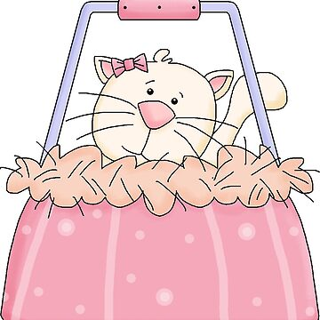 Cartoon Kitty In Bag by Whimsydesigns
