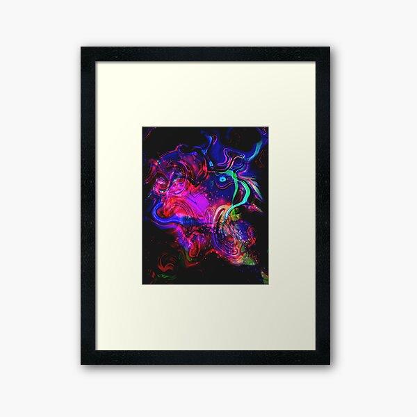 Hot Neon Rainbow Splash  Framed Art Print