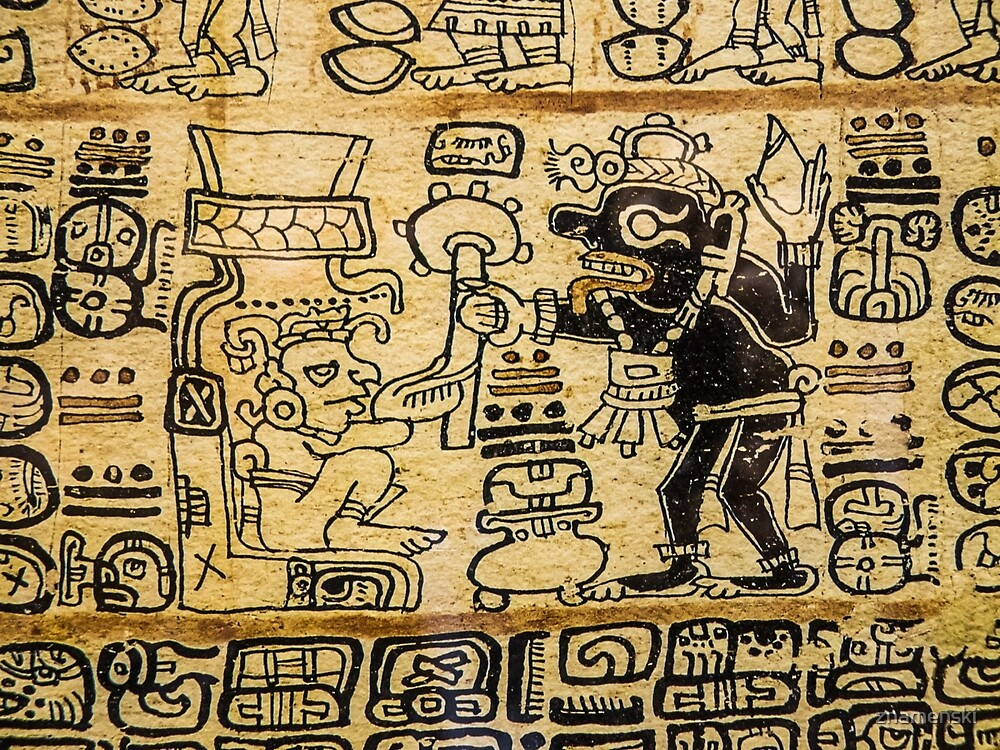 Mayan Art #MayanArt  #Maya #pattern, #art, #text, #old, #design, abstract, paper, symbol, ancient, antique by znamenski