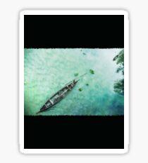 Green Boat Lagoon in Kerala -131 Sticker