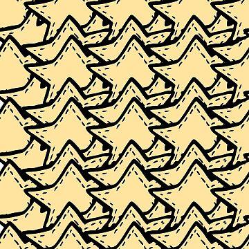 Stars-shaped stripes by TrishaMcmillan