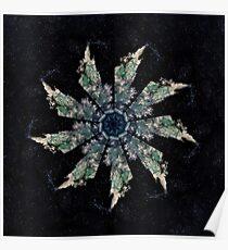 STP Screen Transfer Process - 0088 - Calling the Black Moon Mandala Poster