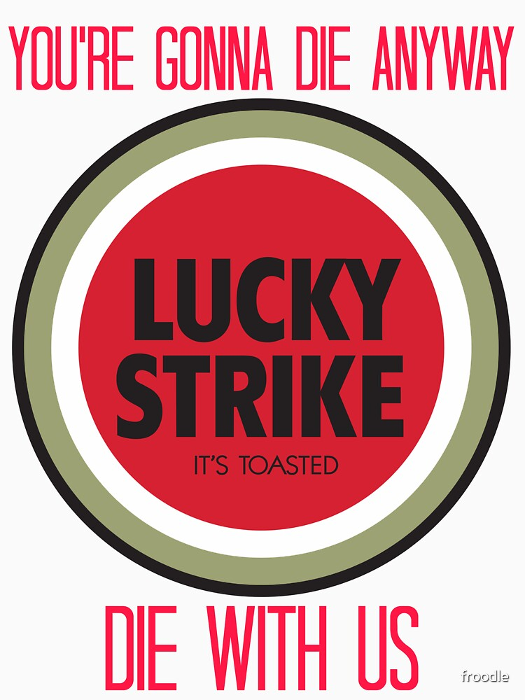 mad men lucky strike ad - red text by froodle