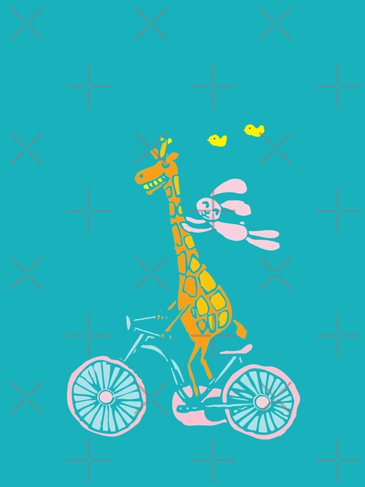 Bunny going for a ride with Giraffe by whya