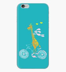 Bunny going for a ride with Giraffe iPhone Case
