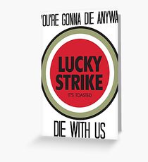 mad men lucky strike pitch Greeting Card